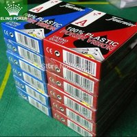 Wholesale 1pcs Wide format small print New blue and red to choose cover Scrub plastic playing cards poker game card hot selling x mm