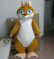 Wholesale Lovely Squirrel Cartoon Mascot Costume Stage Performance Costume Suit Adult Size Halloween Fancy Dress