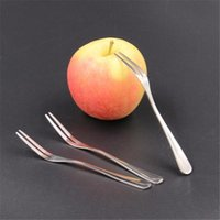 Wholesale New Creative Stainless Steel Fruit Cake Fork Two Tooth Fork Dessert Fork Cutlery Western Food Fork