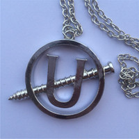 nail charms - Christmas Ghostbusters necklaces pendants Cosplay jewelry Ghostbusters Screw U nail necklace pendant halloween Christmas gift for man woman