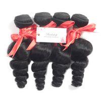Wholesale 10A Brazilian Virgin Loose Wave Bundles Peruvian Indian Malaysian Human Hair Weave Cheap Remy Hair Natural Black Brown Color