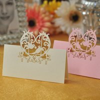 baby pigeons - 100pcs Pigeon Shaped Laser Cut Wedding Party Table Name Place Cards Favor Decor Wedding Decoration Baby Shower Event Party Decoration