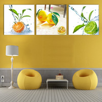 best fruits fashion - Combination Modern Canvas Paint best HAPPY life oil paintings of fruits living room Picture Painting Art Wall Panels No Frame
