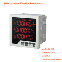 Wholesale LED Display Three Phase Multifunction Power Meter VAC Digital Panel Mount Meter With RS485 Communication