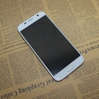 Wholesale 1 Android Smartphone S7 Quad Core MTK6580 GHz RAM GB ROM GB HD Inch G WCDMA GPS Metal Frame Cell Phones