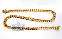 10k gold chain - SOLID K Yellow Gold Miami Cuban Franco Curb Mens Chain mm inches