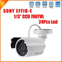 Wholesale 1 SONY Effio E CCD Camera CCTV TVL IR LED Out Indoor Waterlproof Bullet Surveillance Camera Security Night Vision