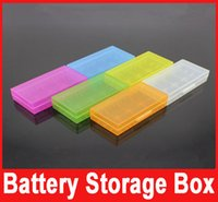 Wholesale Portable transparent box mod battery and Batter storage box case plastic battery safety box for e cigarette mechanical color