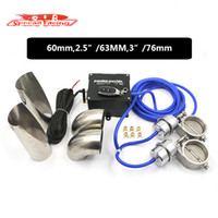 Wholesale SR mm quot quot Vacuum Exhaust Cutout Electric Control Valve Kit With Vacuum Pump Wireless Remote Fit For Two Exhaust Pipe