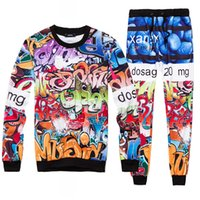 active white pills - Pills Tracksuit Pullovers Sweatshirts Joggers Sets Word Printing Hoodies Cool Emotion Printed D Clothes Pants Active Fashion Women men