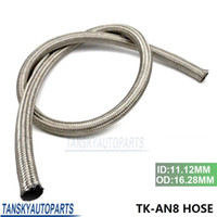 Wholesale TANSKY AN Meter Stainless Steel Fuel Oil Gas Braided Hose Line Ft TK AN8 HOSE
