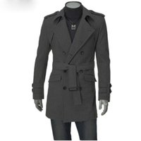 Wholesale Arrival Autumn Winter Men Trench Coat Long Fashion Stylish Double breasted Coat Thick Warm Men Trench