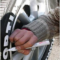 Wholesale Free Shippig Car Styling Tyre pen paint pen oil paint marker touch up pen doodle pen With white and Redcolor