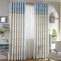 beautiful exterior doors - Modern fashion refreshing Rural style jacquard Beautiful flower blackout curtain for living room the bed room MD0026