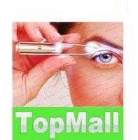 Wholesale Free DHL Stainless Steel Make Up Led Light Eyelash Eyebrow Hair Removal Tweezers LLFA154