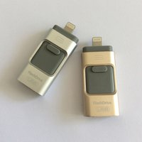 Wholesale 2016 New Genuine Capacity Flash Drive GB in Otg USB Flash Drive For iPhone s c Plus ipad Flashdrives Pendrives