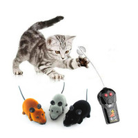 Wholesale Electronic RC Mouse Novelty Gift Funny SCD Wireless Remote Control Rat Toy For Cats Pets Black Grey Brown