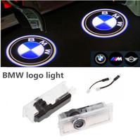 Wholesale 2xBMW LED Car Door Ghost Shadow LOGO Light Projector Courtesy Lamp Bulb Courtesy Led Car Laser Projector For BMW