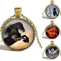Конные фотографии Цены-Ожерелье для лошади Ожерелье Конные украшения Ювелирные изделия с изображением природы Картина из стекла Кабошон Колье Chirstmas подарок для женщин и меня