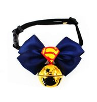 batman dog collar - New Fashion The Avenger Pets Collars Batman Superman Captain America Badge Pets Dog Cat Collars Necklace Adjustable DCBH61