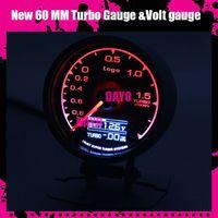 Wholesale Dayo New Colors mm Boost Gauge High Quality Turbo Gauge with Voltage gauge Multi D A LCD Digital Display Racing Gauge