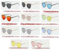 al por mayor aviador gafas de sol colores-2016 gafas de sol de la manera para las gafas de sol mentales de los aviadores del ojo de gato de las gafas de sol de las mujeres de los hombres marcas las gafas de sol ULTRAVIOLETA para los sunglass retros de los hombres 11 colores