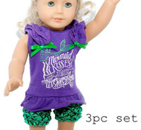 Wholesale hot sale retail girls infant Mermaid Kisses Starfish Wishes Piece Boutique Set starfish wishes outfits with matching headband