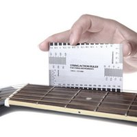 Wholesale Acoustic Electric Guitar String Action Ruler Gauge Steel Luthier Tool Setup in mm for Guitar Bass hot