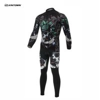 bicycle print - 2016 XINTOWN Unisex Skull Soldier Print Jersey Sets Cycling Bike Wicking Breathable Long Sleeve Bicycle Jersey Bib Pant S XL