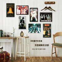 Wholesale old retro metal signs Metal Painted Wall Murals And Creative Bar Cafe Decorations Iron Wall Hangings Restaurants Pendant Retro Classic GJ14