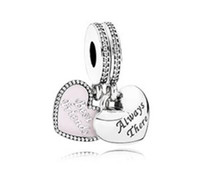 best friends charms - Fits for Pandora Bracelet Original Sterling Silver beads Best Friends Pendant Charm with clear CZ new Autumen jewelry PC