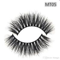 Wholesale Natural Eye Lashes Makeup Handmade Thick Fake Eyelashes Beauty False Eye lashes Real Siberian D Mink Strip Lashes MT005