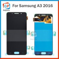 Wholesale S3 Display Screens - Touch Screen Panel For Samsung Galaxy A3 2016 A310 A3100 A310F A310M A310Y Original LCD Display Free Shipping Black White
