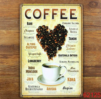 Wholesale LOVE COFFEE Tin Sign Bar pub home Wall Decor Retro Metal Art Poster