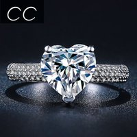 best proposal - Hot Sale Best Gift for Engagement Wedding Heart Shaped Simulated Diamond Rings for Women Bague Bijoux Ring for Proposal CC048