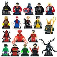 avengers products - Super Heroes Avengers Minifigures Iron Man Batman Building Block Sets Model Bricks Toys