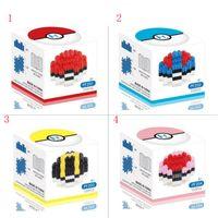 Wholesale Poke go Puzzle Building Blocks Anime Diamond Blocks Figures Bricks Toys Gift Mini POKE MON Ball Blocks With Box Styles In Stock
