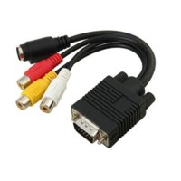 Wholesale VGA to S Video Adapter Cable VGA to AV VGA Switch S VIDEO Terminal Conversion Cable RCA RCA