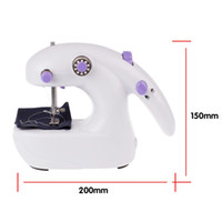 Wholesale Mini Electric Sewing Machine Household Hand Held Single Sewing Tool With AAA Batteries Powered