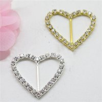 Wholesale 2016 Rhinestone Buckle Diamante Heart Shape Buckle Wedding Supply Decoration Wedding Invitation Buckles Gift Box Decorated Drill Buckle