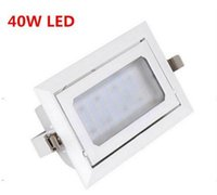 acryl painting - W LED Downlight Rectangle downlight AC85 White paint SMD5730 CE ROHS LED recessed downlight very bright