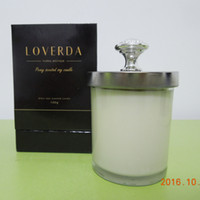 Wholesale Rose Mint Peony Lemon Violet Christmas gift luxury scented glass jar candles with lid cover DHL shipping free