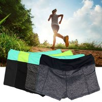 Wholesale Cool Comfortable Women Female Lady Summer Sports Running Yoga Fitness Exercise Elastic Short Pants Outdoor Shorts