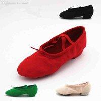 Wholesale canvas jazz shoes slip on soft split soles modern dance shoes gym yoga fitness karate shoes flat shoes sneakers for men women