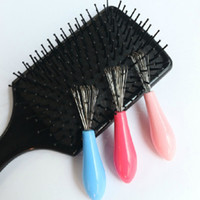 Wholesale Durable Mini PC Hot Sales Comb Hair Brush Cleaner Embeded Tool Salon Home Essential Color Randomly