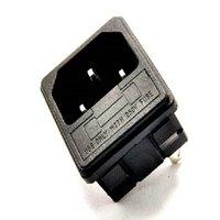 ac power socket fuse - AC all copper three pin AC power outlet with fuse socket with bayonet A V