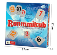 Wholesale smart rummikub board game family party travel set rummy educational toy the fast moving rummy tile game toys