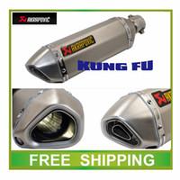 Wholesale CBR CB400 CB600 CBR600 CBR1000 CBR250 CBR125 ER6N ER6R YZF600 TTR YBR Motorcycle Exhaust Pipe Muffler pipe