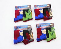 america pair - 3 Year pairs Iron ManThor Hulk Captain America kids cartoon cotton Children s Socks Baby superhero children baby socks