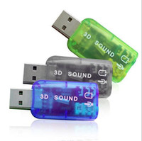 Wholesale USB to D Audio USB External Sound Card Adapter Channel Sound Professional Microphone mm Interface De Audio